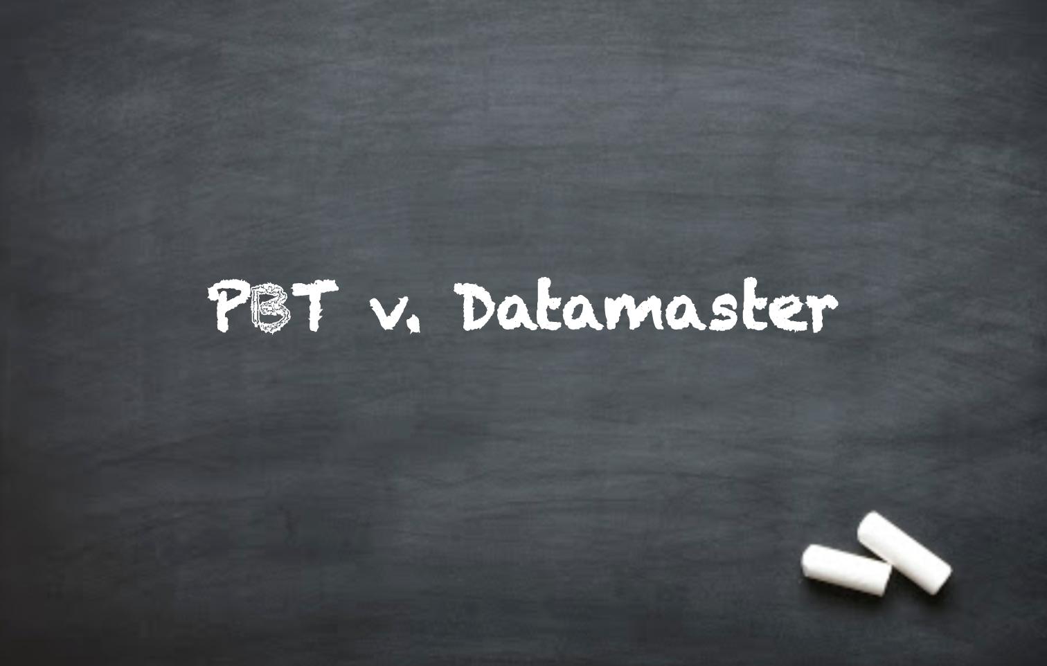 DUI Issues: PBT v. Datamaster