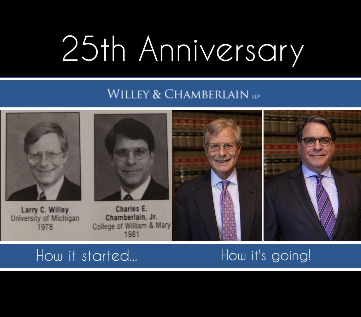 Willey & Chamberlain Celebrates 25 Years